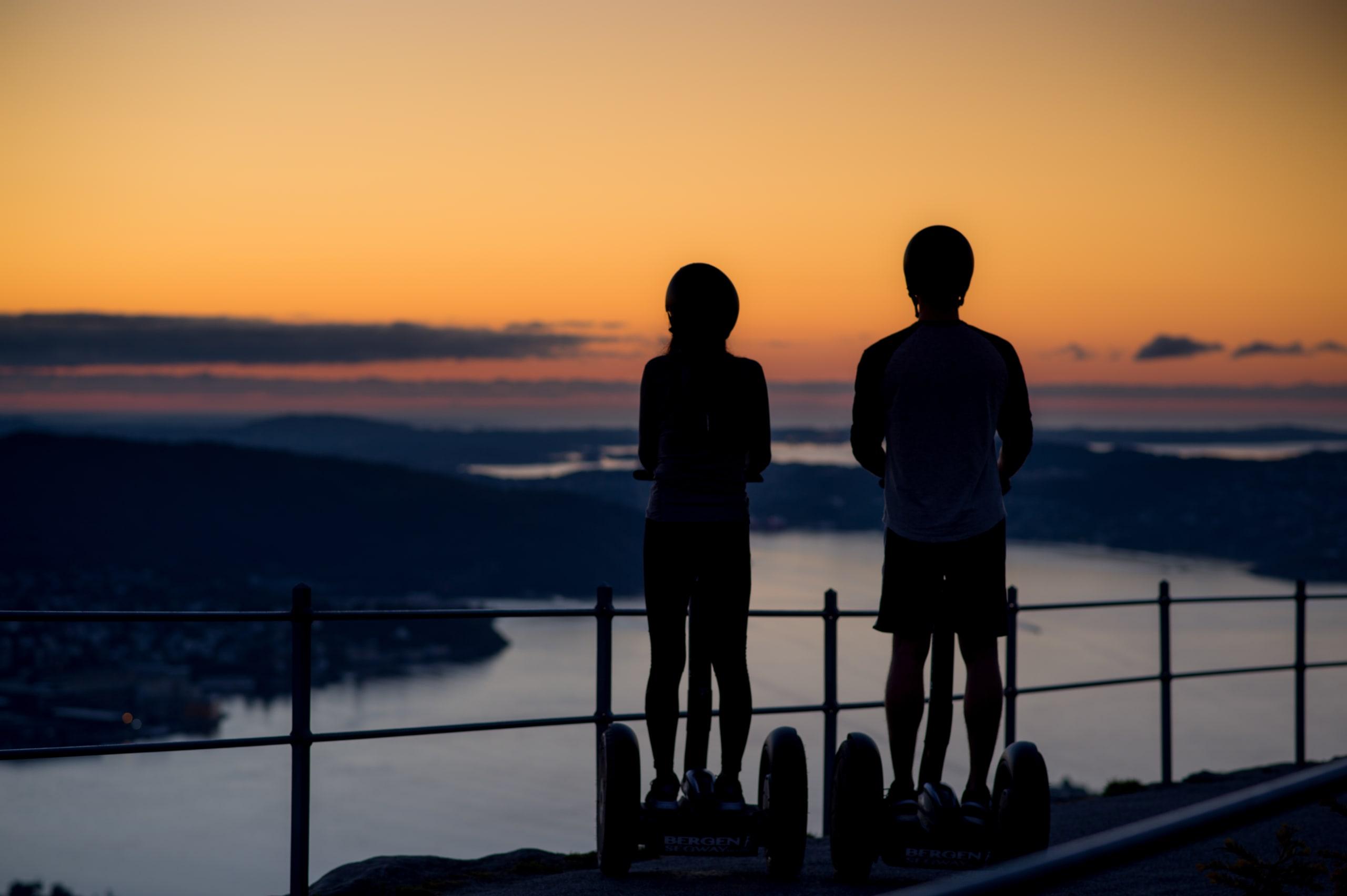 Sunset seen from the summit of Fløyen
