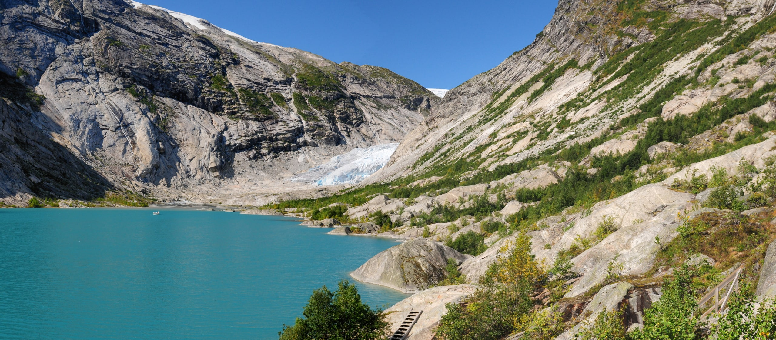 Nigardsbrevatnet lake in Jostedalsbreen National Park
