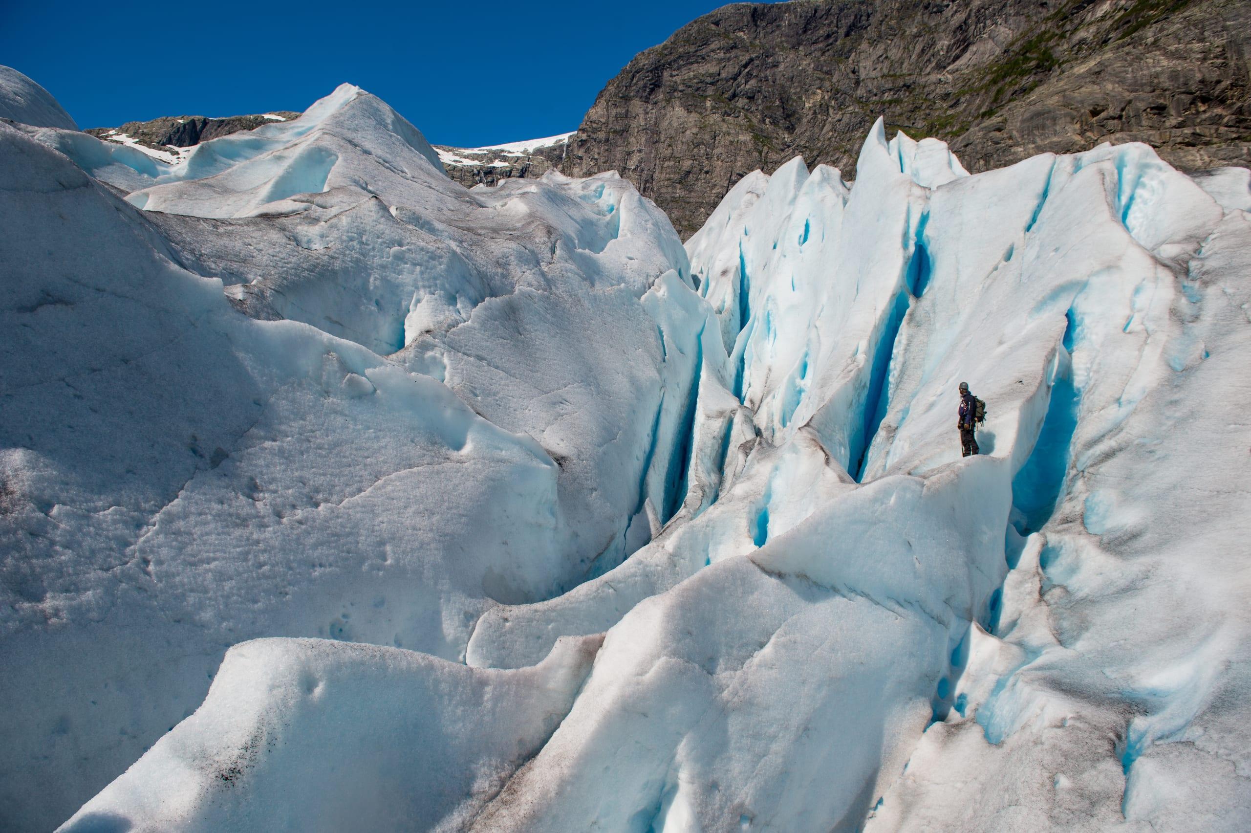 Blue ice hiking at Nigardsbreen