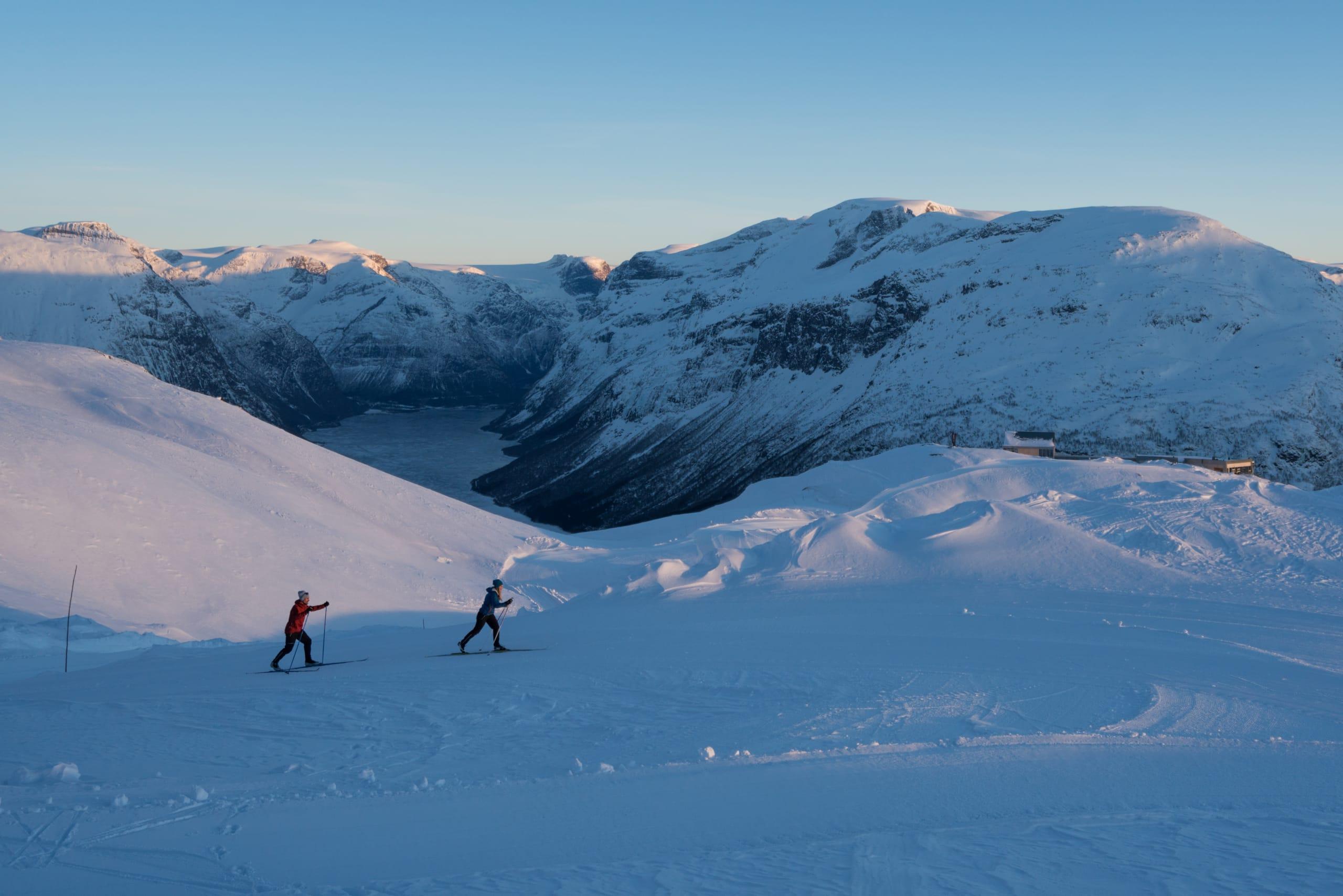 Cross-Country skiing from Loen Skylift