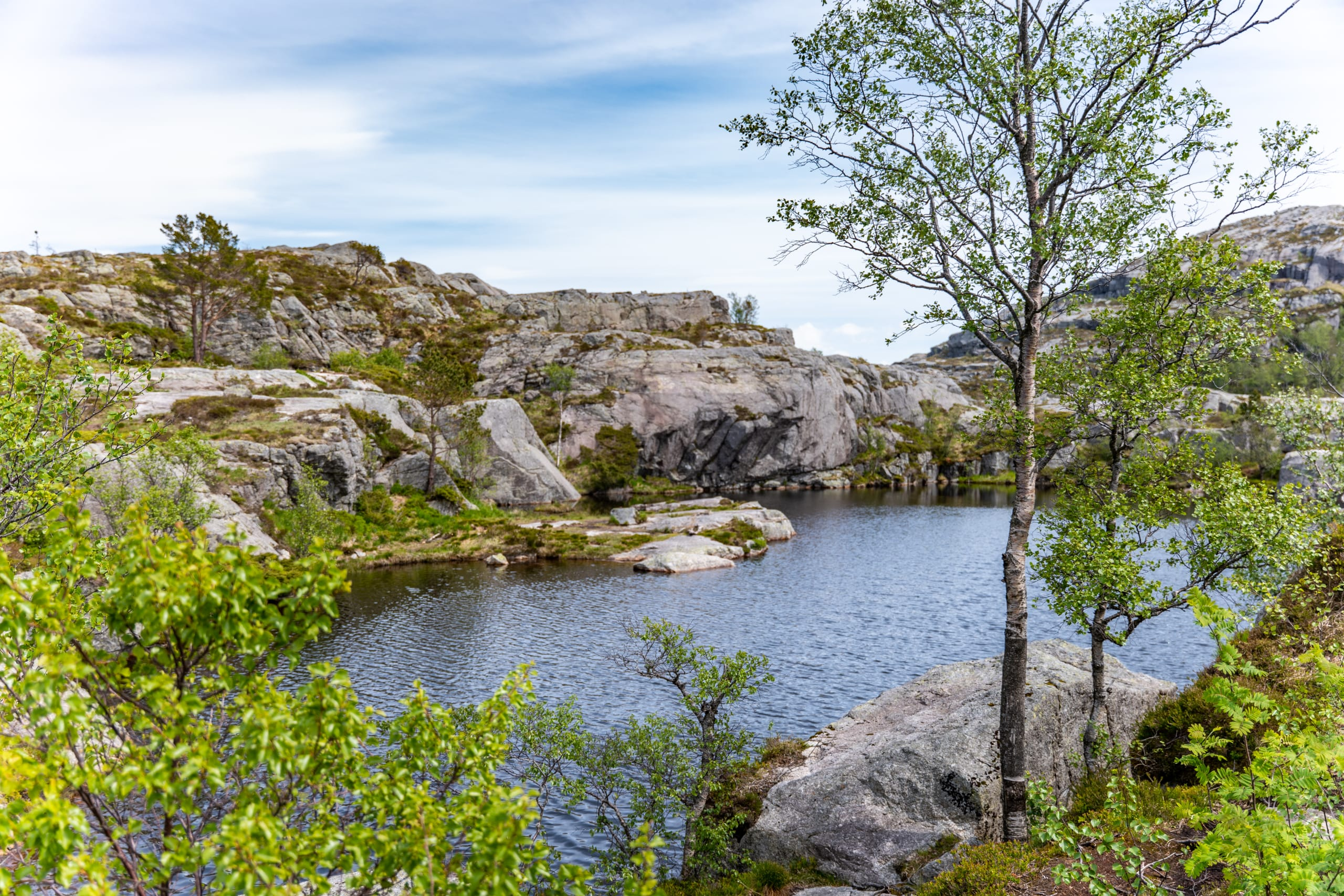 Tjødnane mountain lakes near Preikestolen