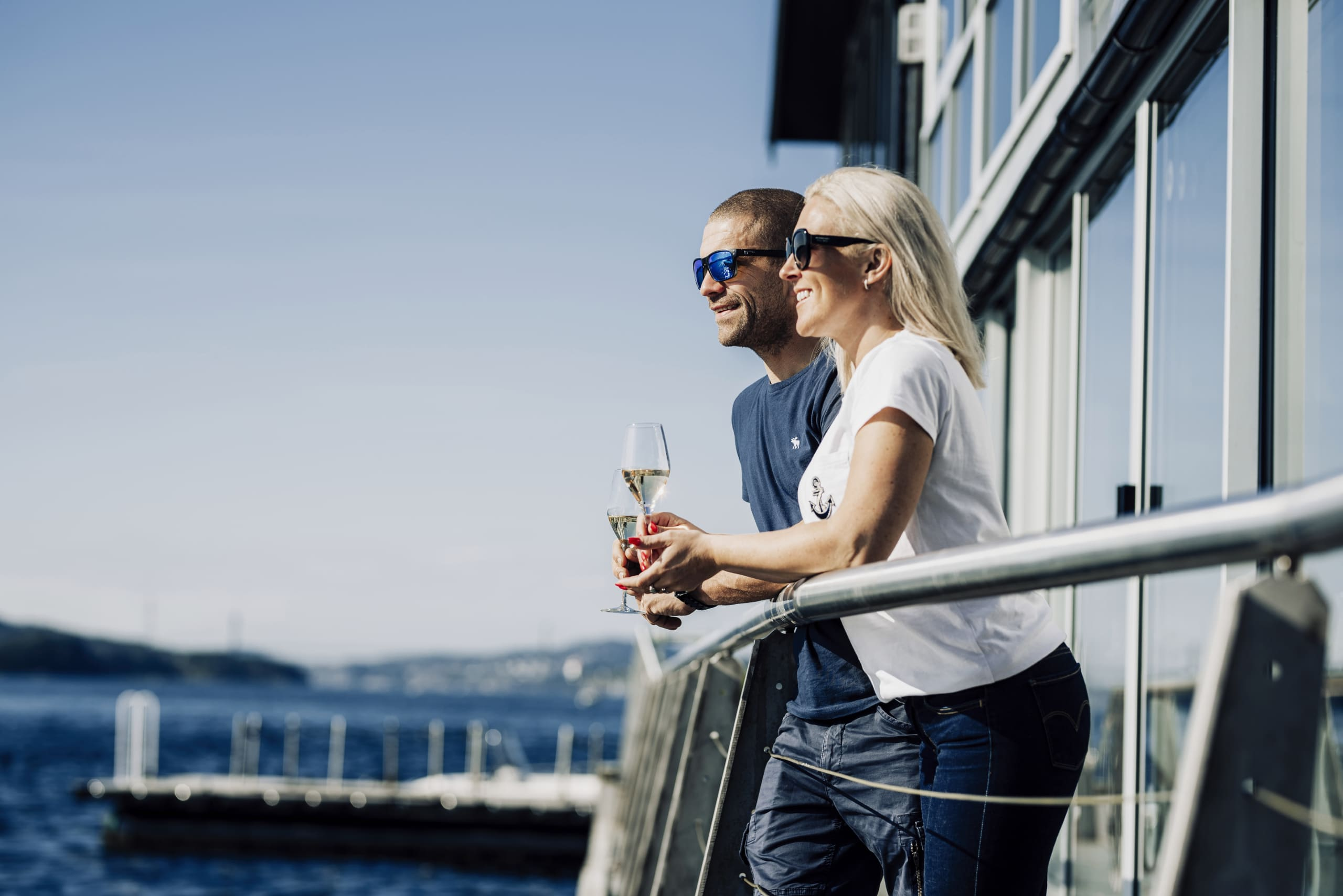 Couple enjoying the view at Cornelius