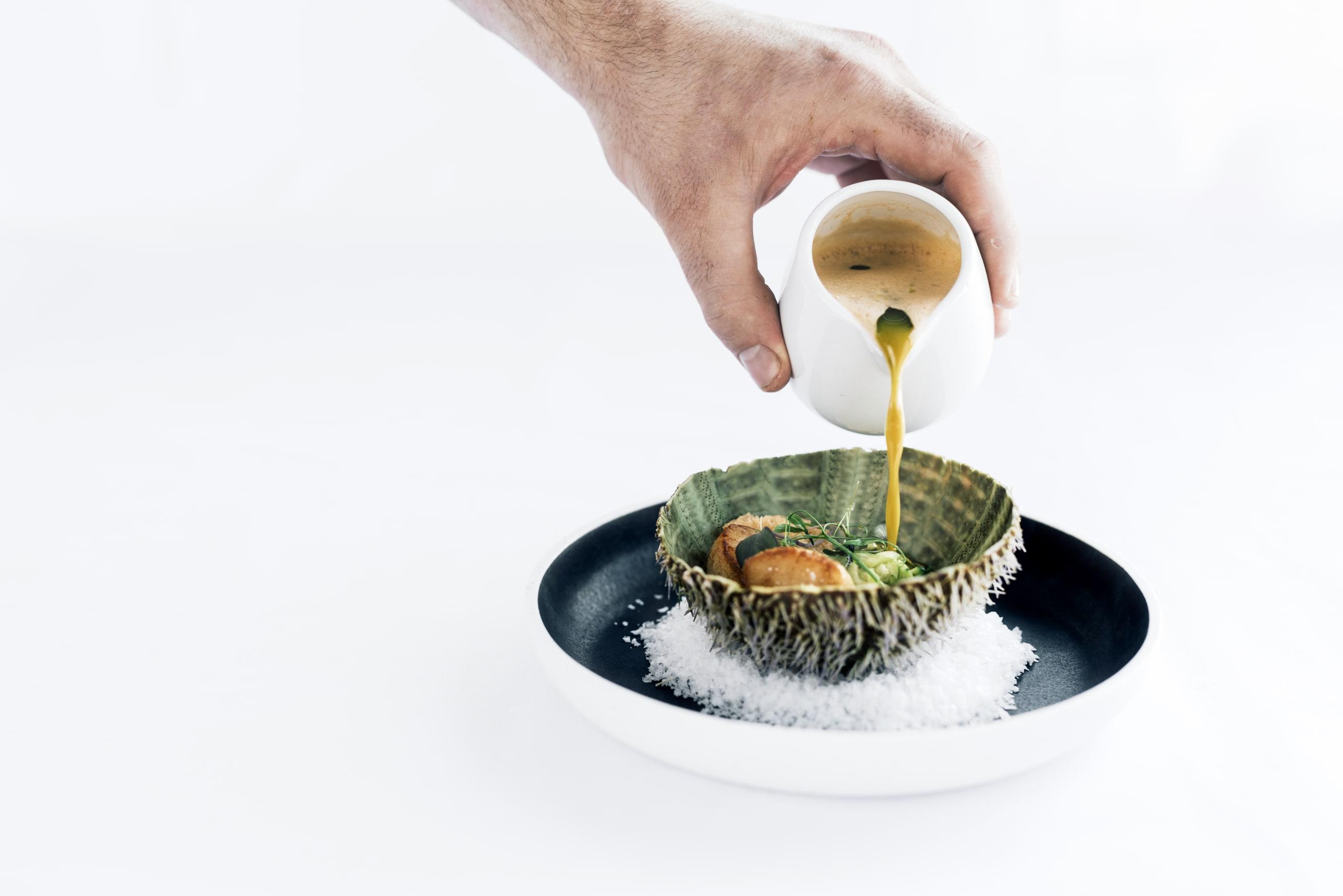 Fish soup at Cornelius Seafood Restaurant