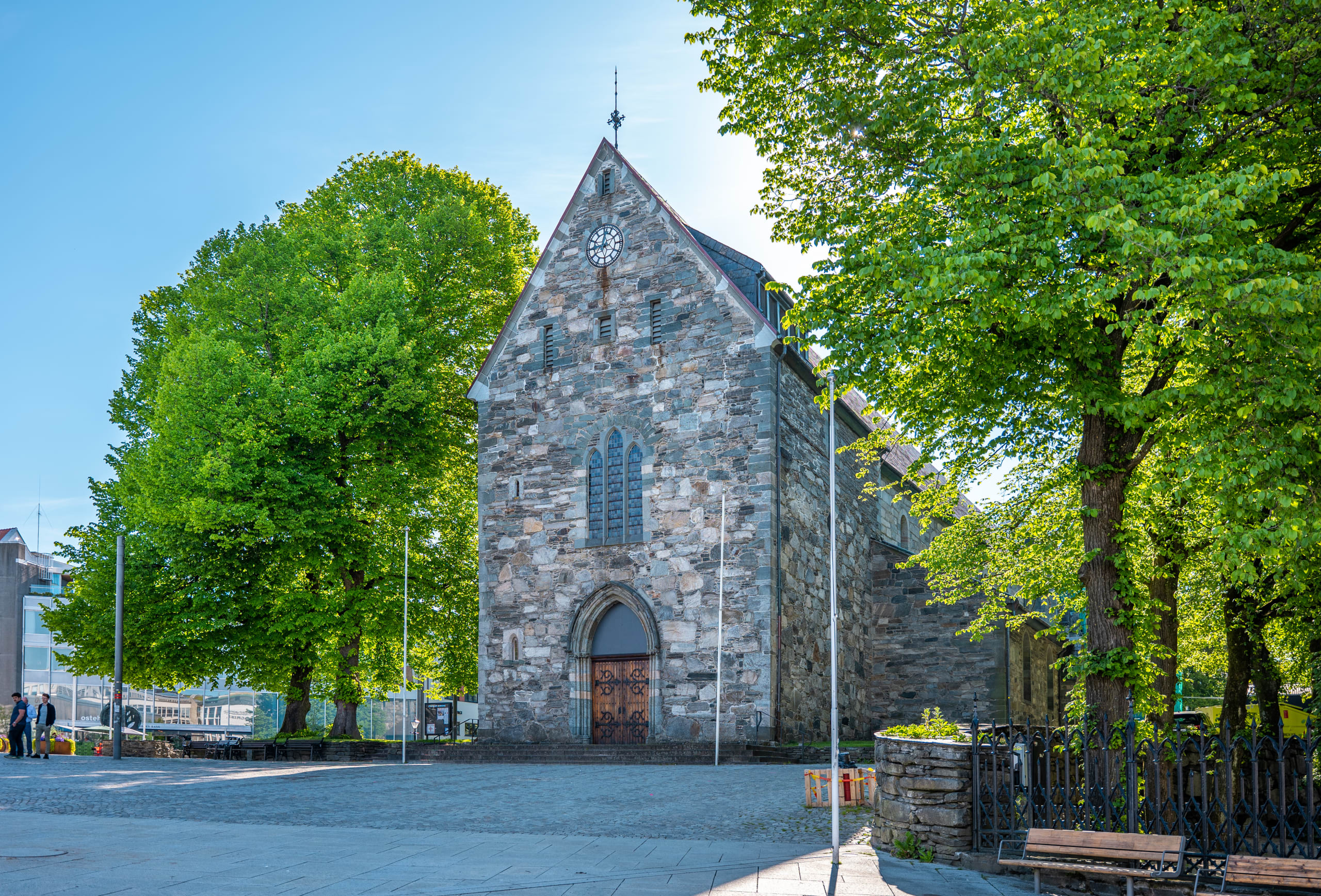 The cathedral of Stavanger in the heart of the city
