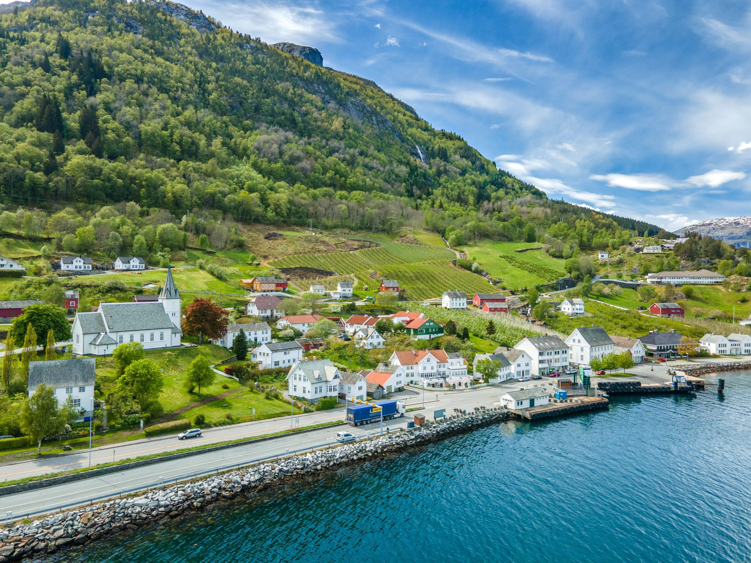 Utne fjord village in Hardanger