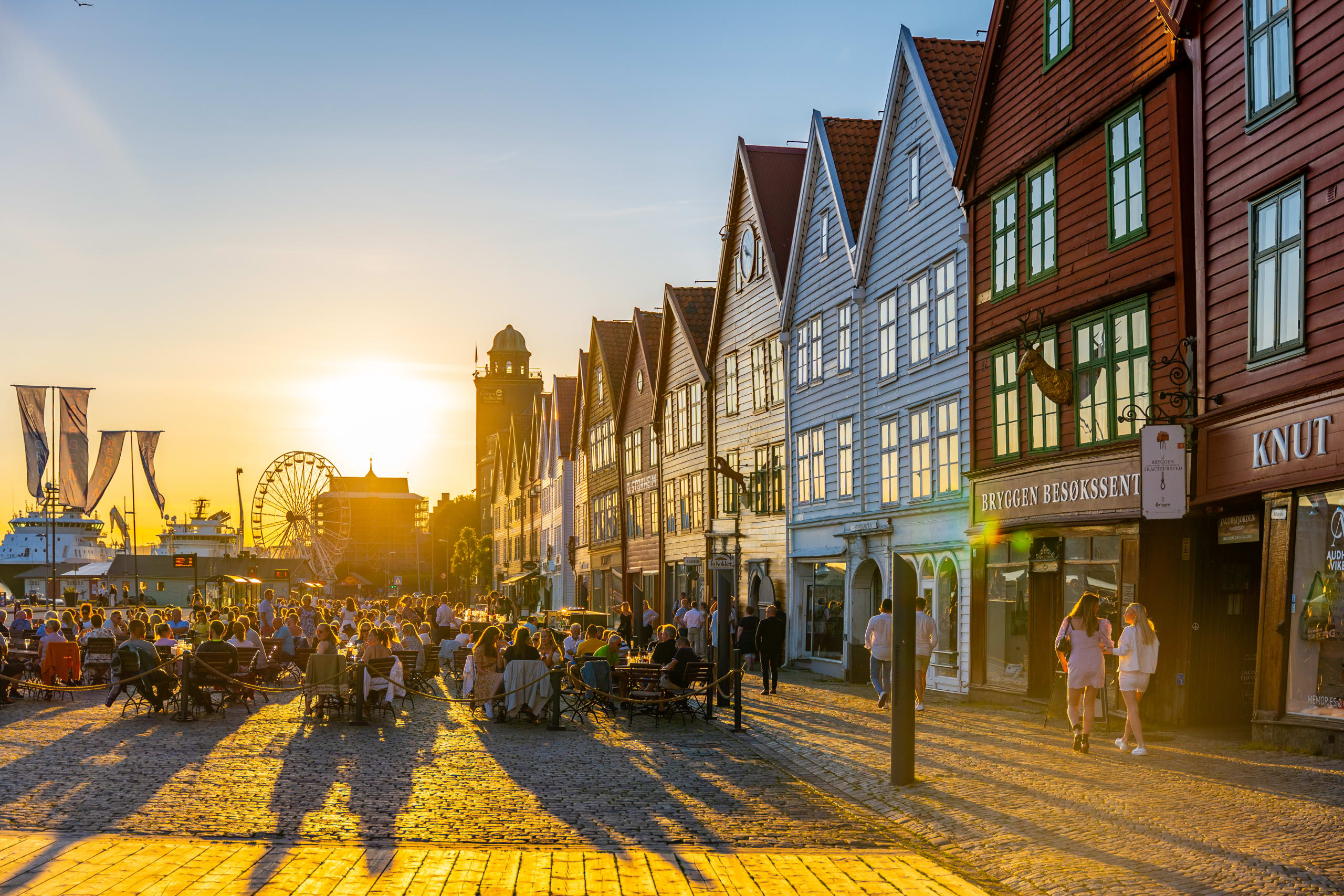 Magic hour at Bryggen in Bergen