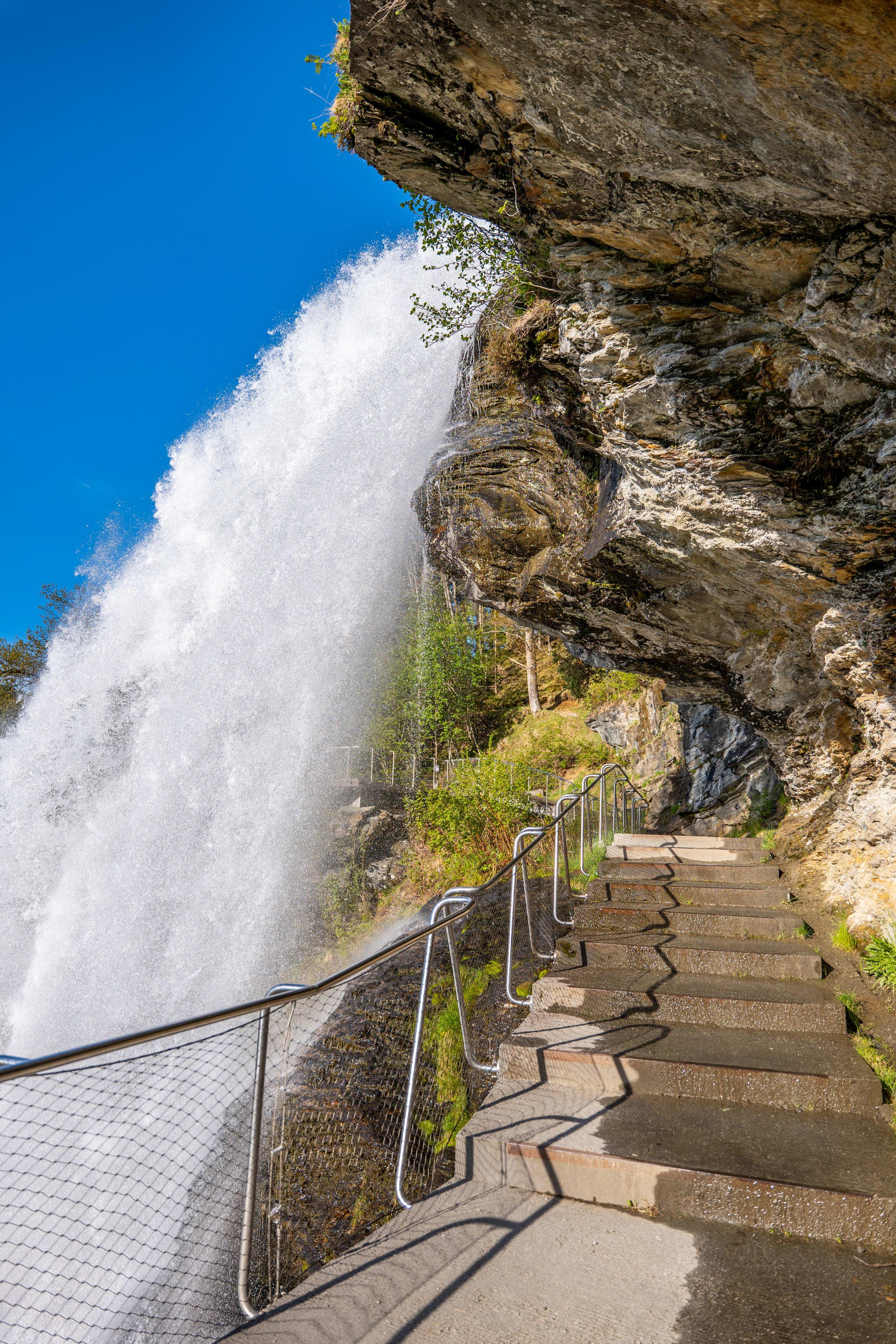 Walk behind the waterfall
