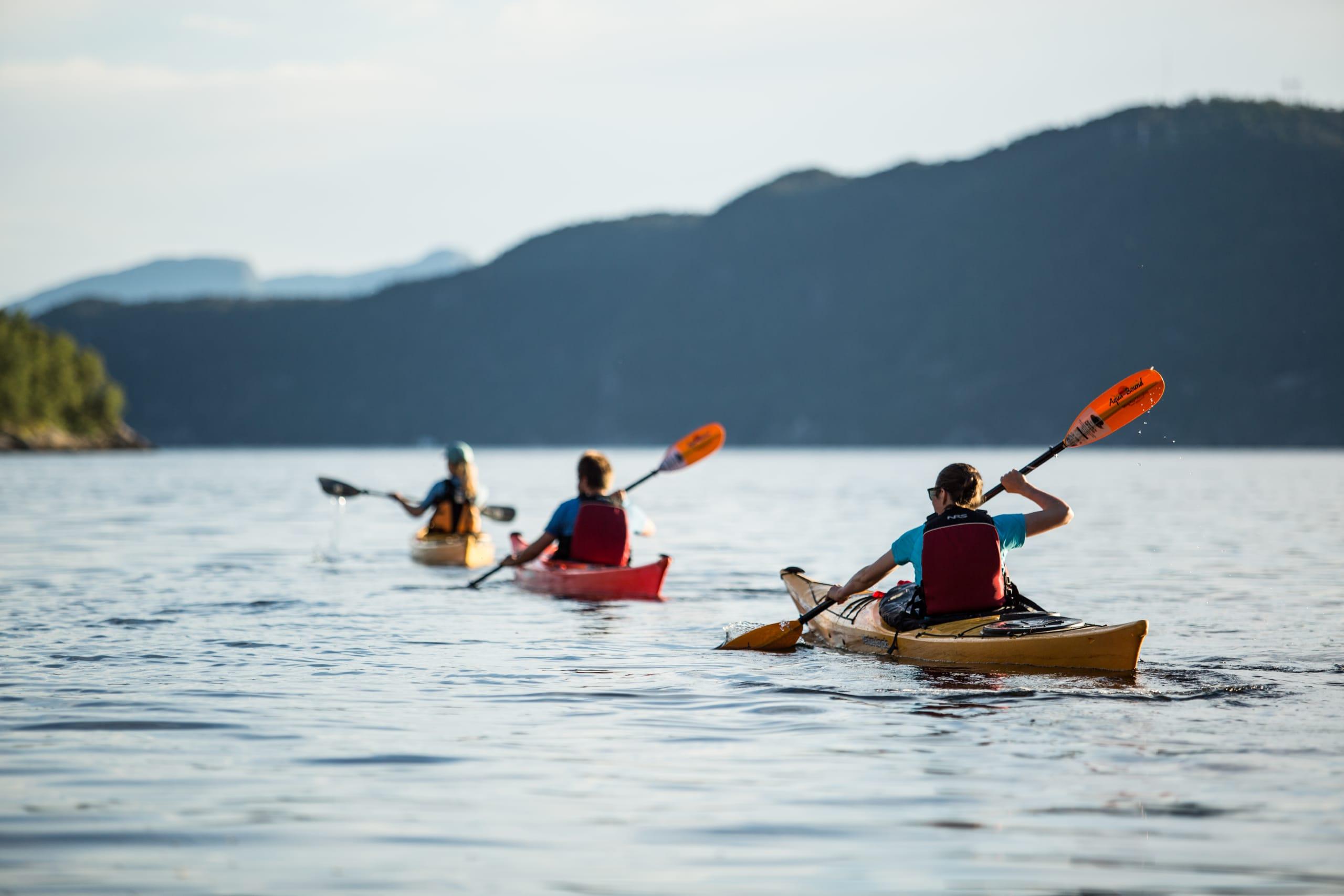 Kayaking in Hardangerfjord starting from Jondal