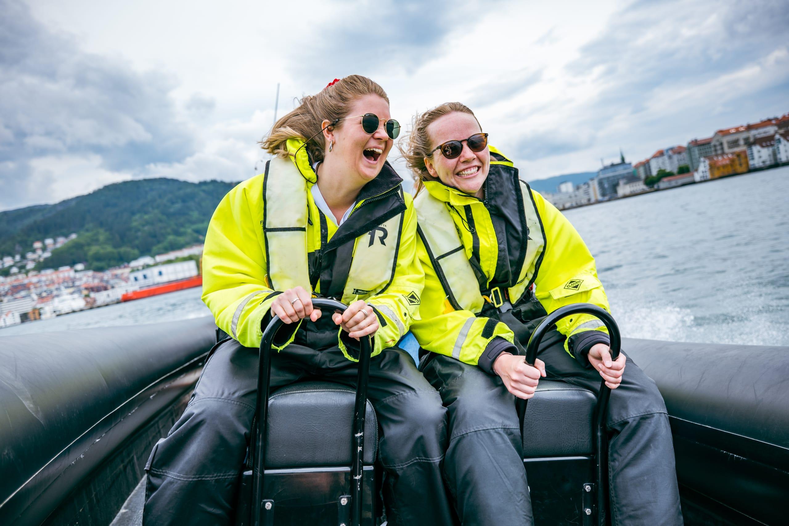 Fast-paced RIB safari starting in Bergen harbor