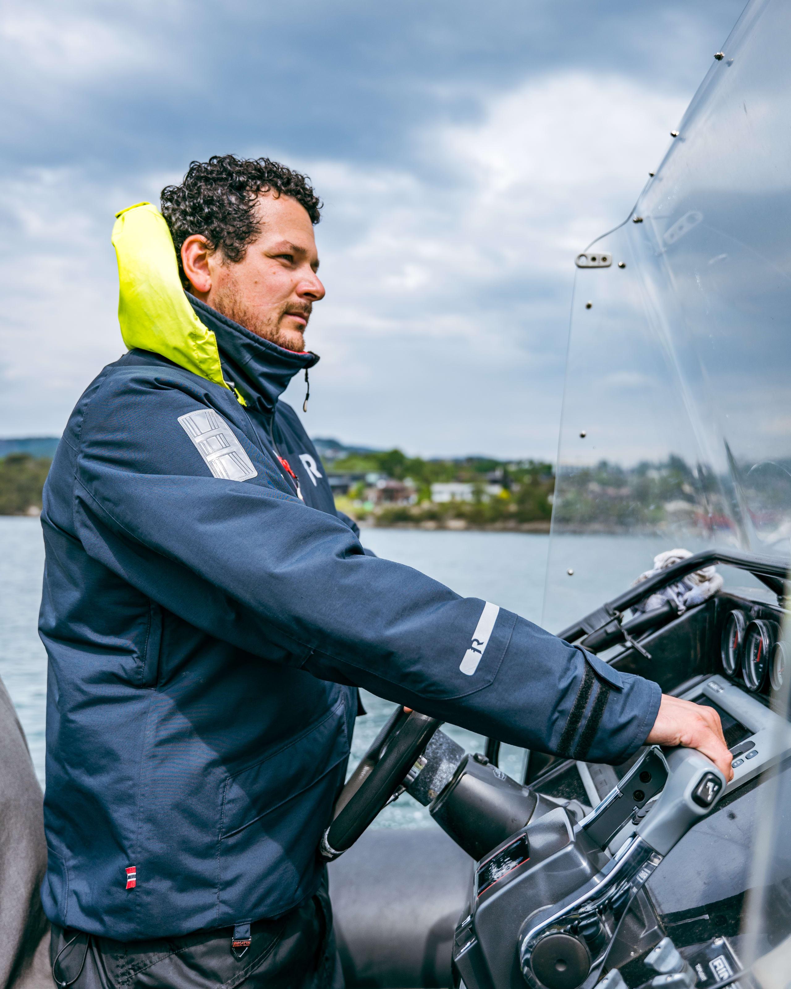 The steady captain of Bergen City RIB