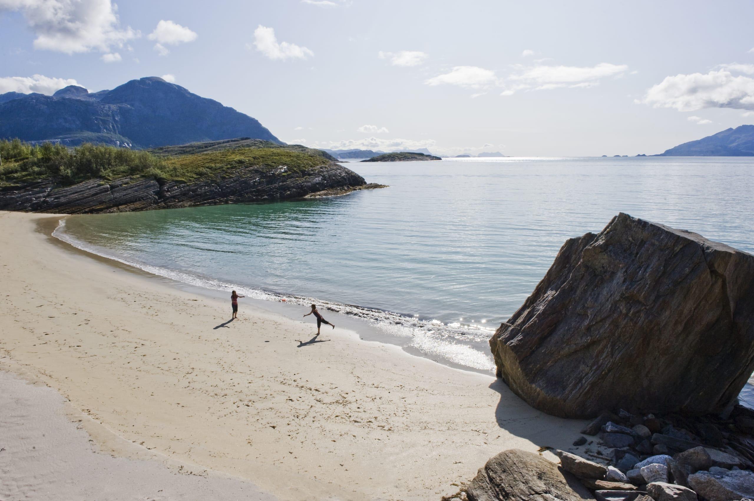 Paradisbukta beach close to the town of Bodø