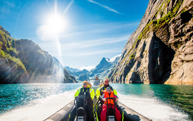 Rib safari in Trollfjord