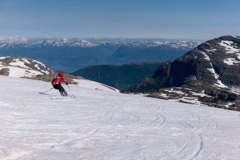 Summer skiing at Folgefonna glacier