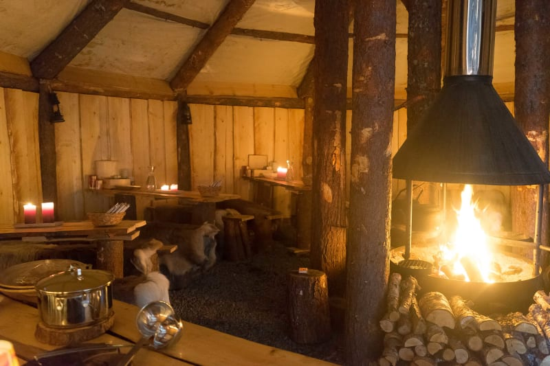 Fireplace in Sami tent