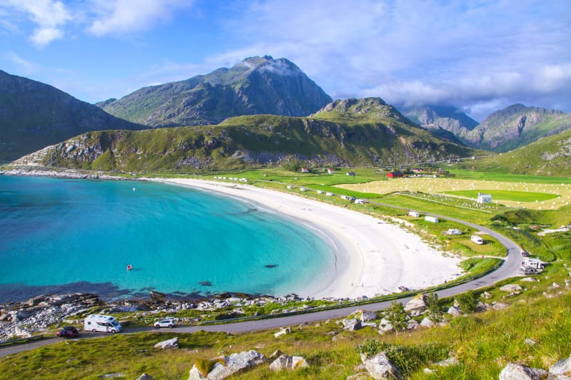 Haukland beach in Lofoten