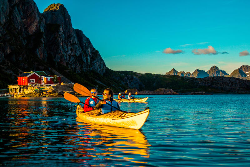 Evening kayaking in Svolvær