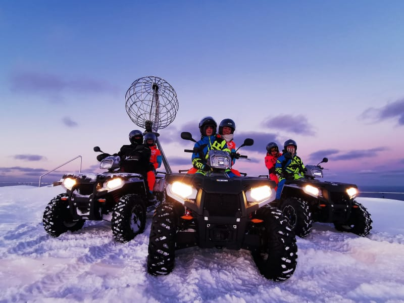 North Cape ATV safari winter