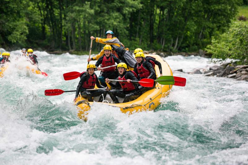 Rafting in Valldøla River in Valldal