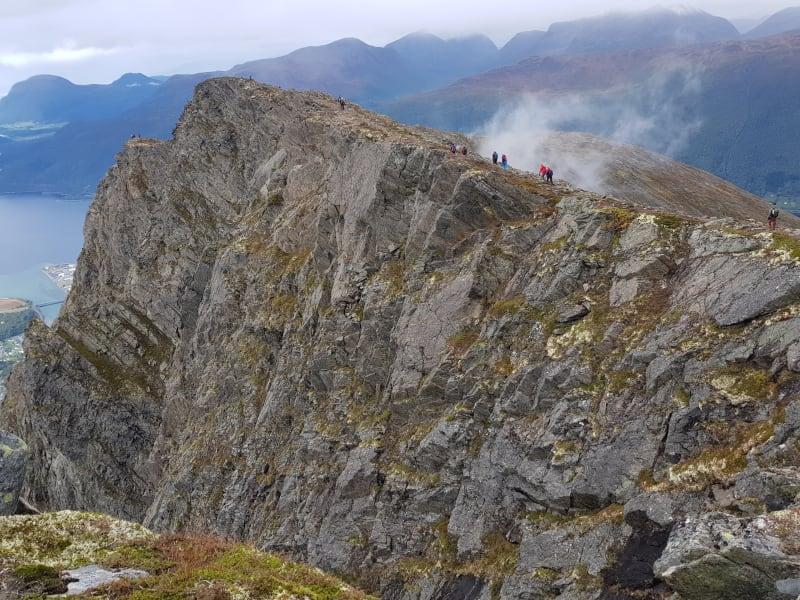 Romsdalseggen mountain ridge