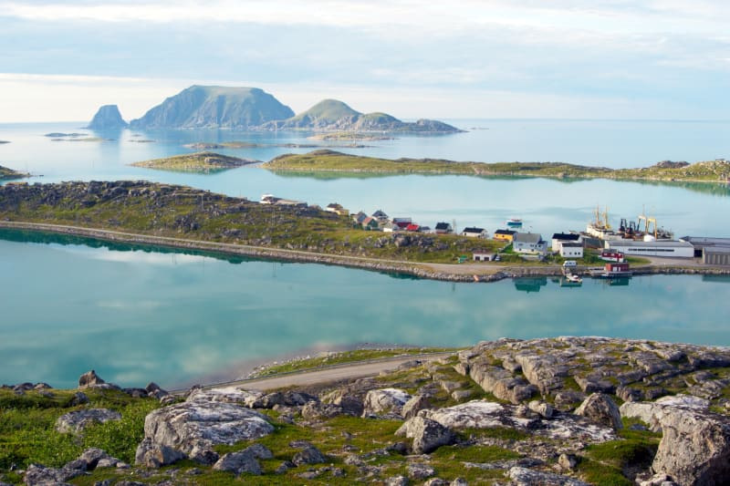 Turquoise waters at Gjesvær
