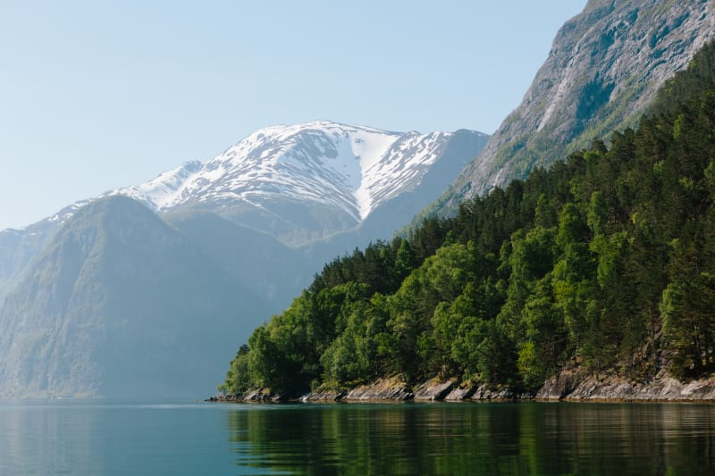 Mountainside along the Sognefjord