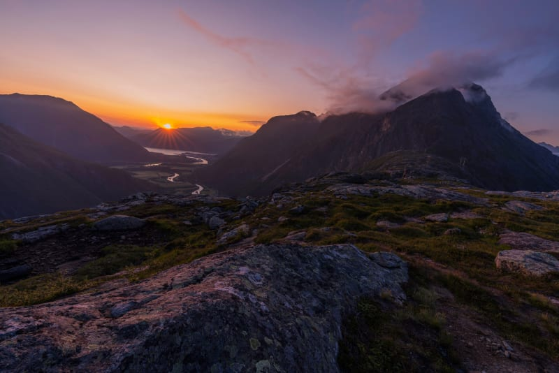 View from Litlefjellet in Romsdal