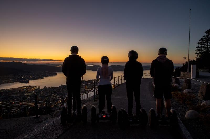 Segway tour to the summit of Fløyen