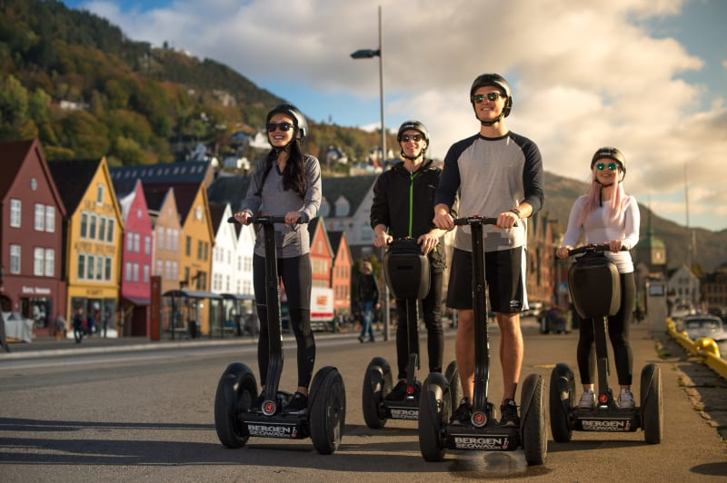 Segway tour on Bryggen in Bergen