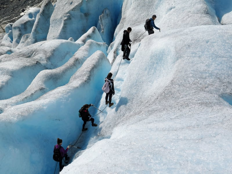 Glacier hiking at Nigardsbreen