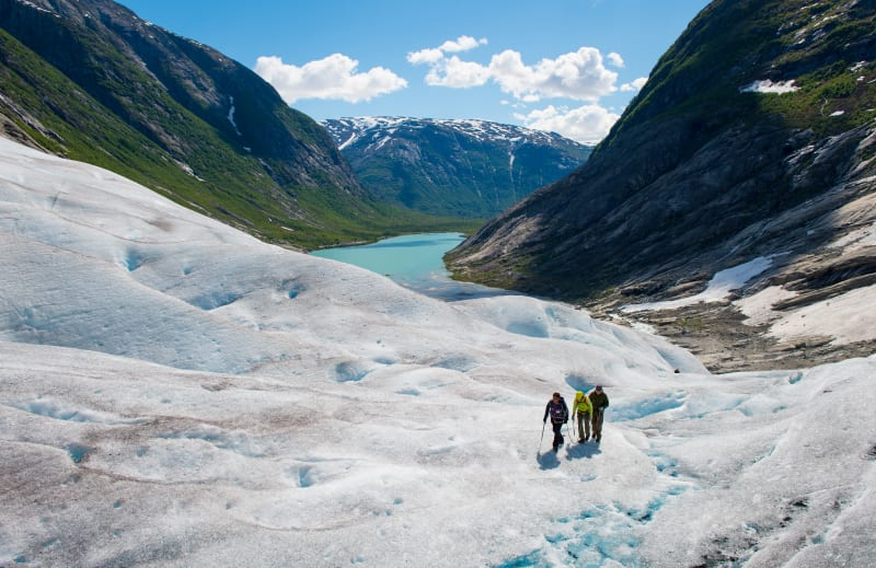 Glacier hiking at Nigardsbreen