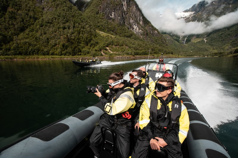 Fjord sightseeing with RIB from Balestrand