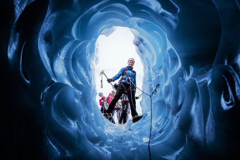 Blue Ice hiking at Folgefonna