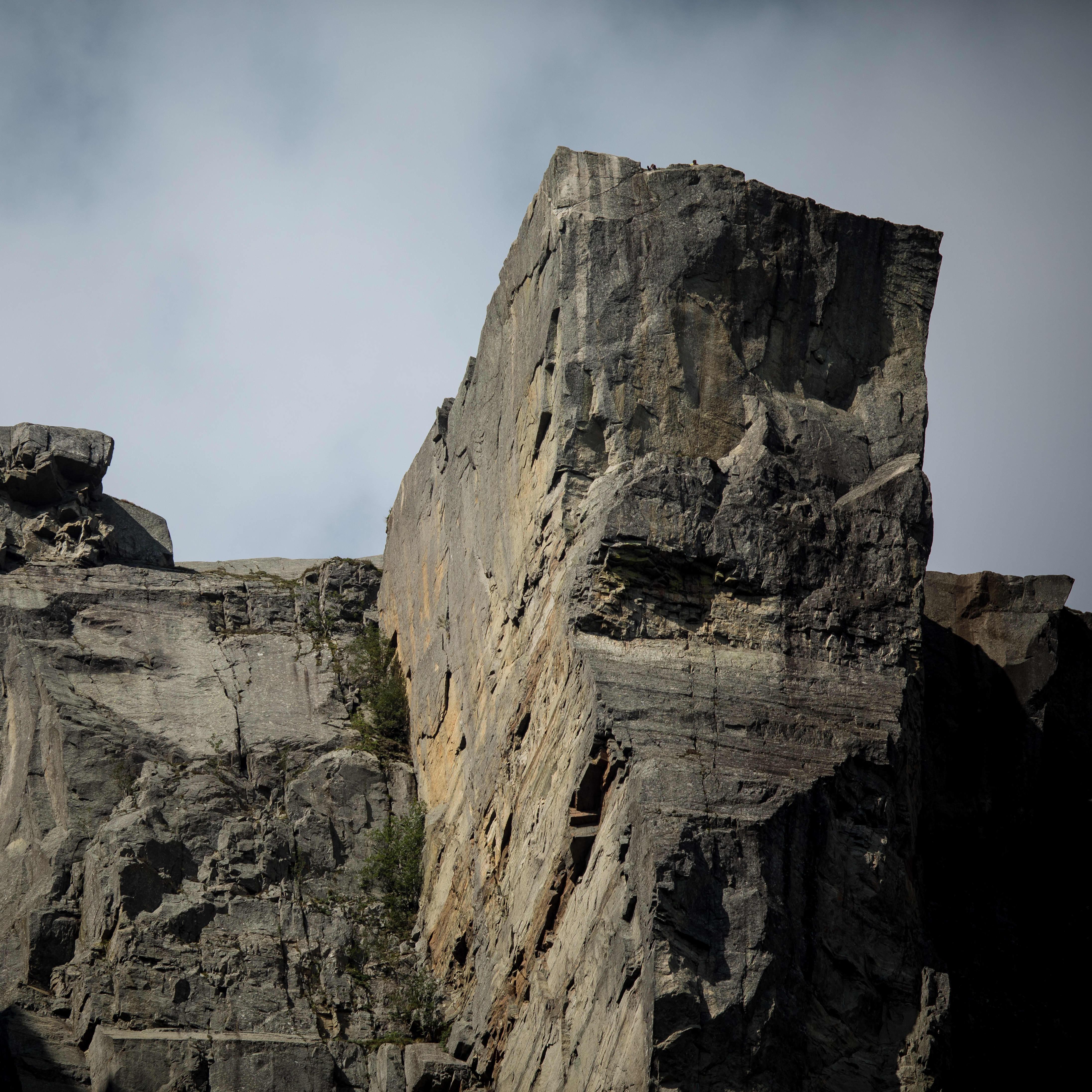 Preiekstolen rock formation seen from the Lysefjord below.