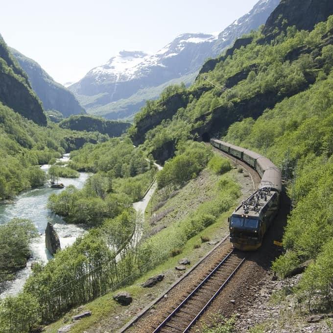 Flaamsbanen offers one of the most scenic train rides in Norway.