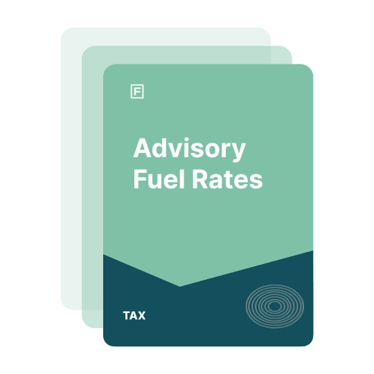 advisory fuel rates guide