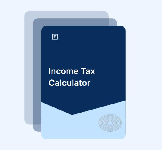 Man calculation his income tax on an iPad