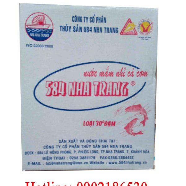 Nước mắm 584 Nha Trang 30 độ đạm (chai nhựa)