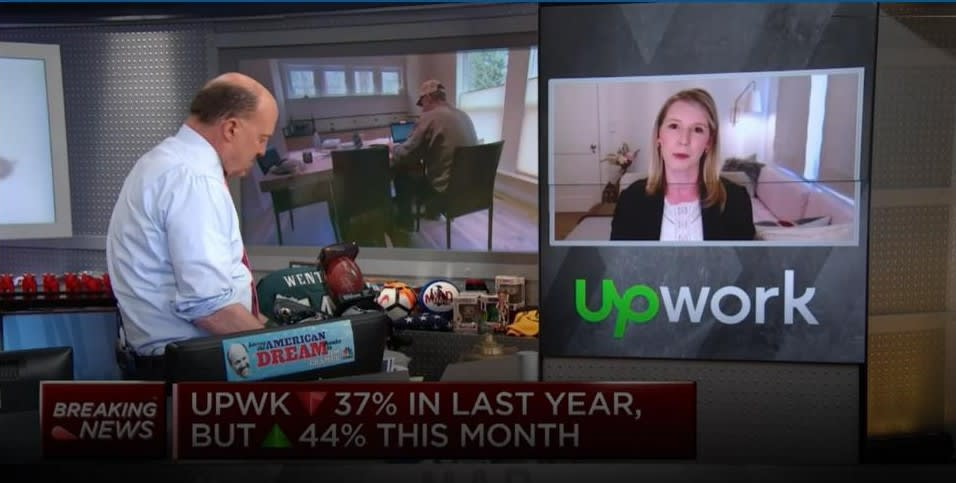 GoLance Reacts To CNBC's Mad Money Interview With Upwork CEO Hayden Brown
