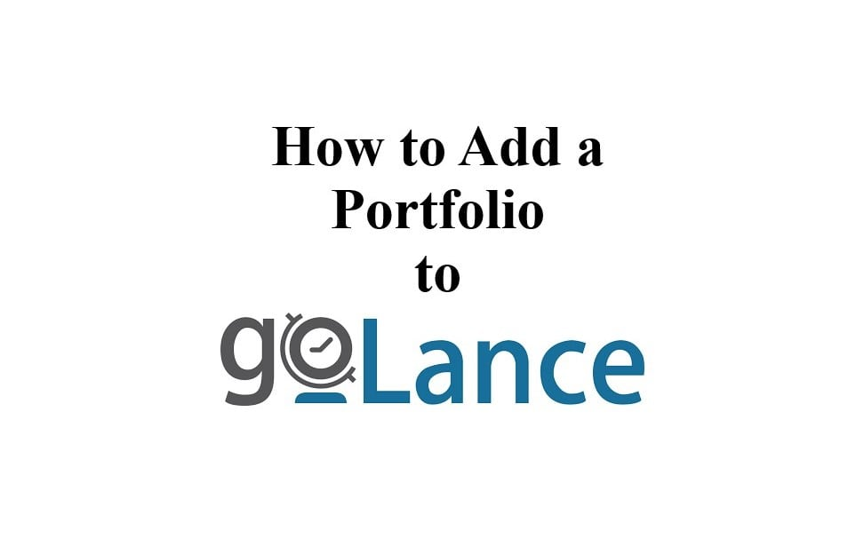 How to Add a Portfolio to goLance