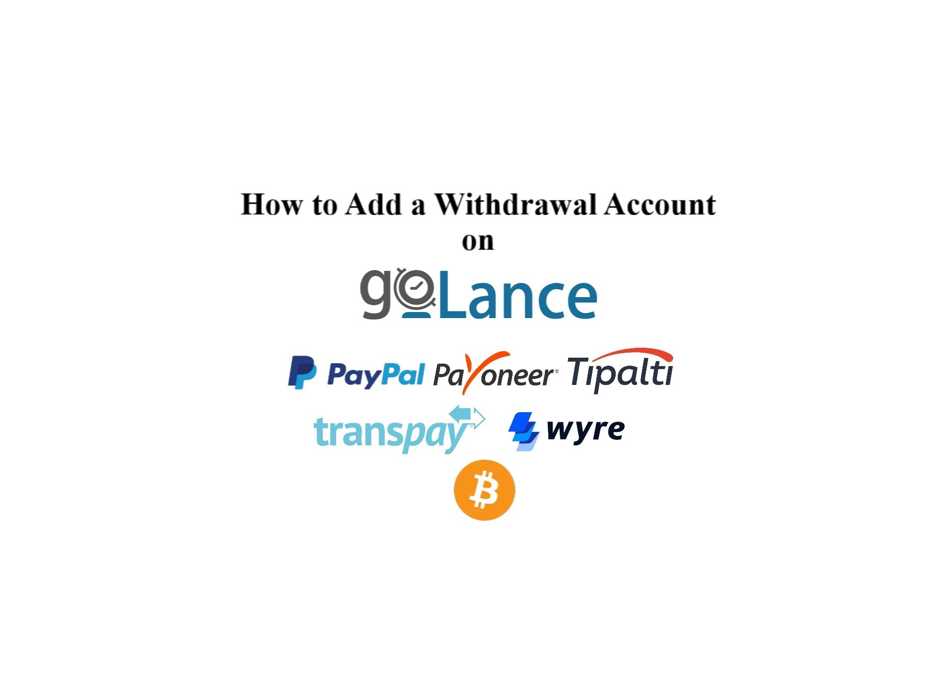 How To Add a Withdrawal Account on goLance