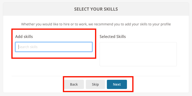 goLance - Select Skills
