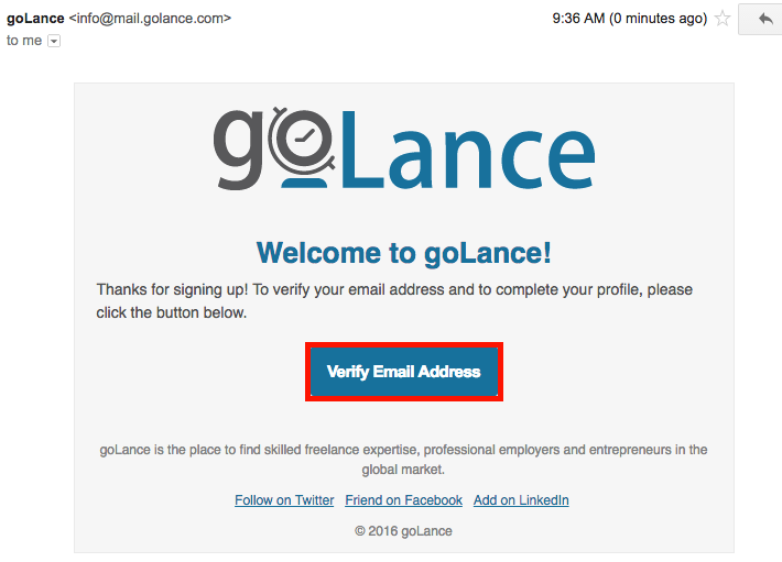 goLance - Confirm email 2