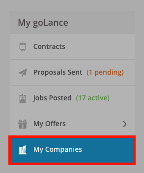 Step 1. Select My Company
