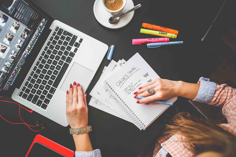 Freelancer At Desk