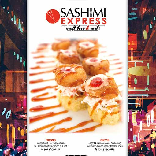 Sashimi Express Sushi Menu Redesign