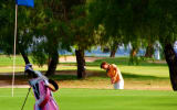 Golfbag klug abstellen