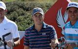 Der Flight um Rory McIlroy, Jordan Spieth und Rickie Fowler (v.l.) dürfte bei der Abu Dhabi HSBC Golf Championship die Blicke auf sich ziehen.