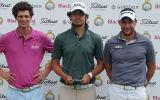 Hinrich Arkenau (mitte) mit dem Zweitplatzierten Kenny Subregis (links) und dem Dritten Antoine Schwartz. (Foto: Golf Post)