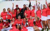 Die frischgebackenen Deutschen Mannschaftsmeisterinnen des GC St. Leon-Rot feiern den Titeln. (Foto: Golf Post)
