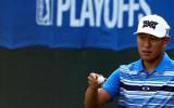 Freude bei James Hahn. Der US-Pro startet an die Spitze bei der Deutsche Bank Championship. (Foto: Getty)
